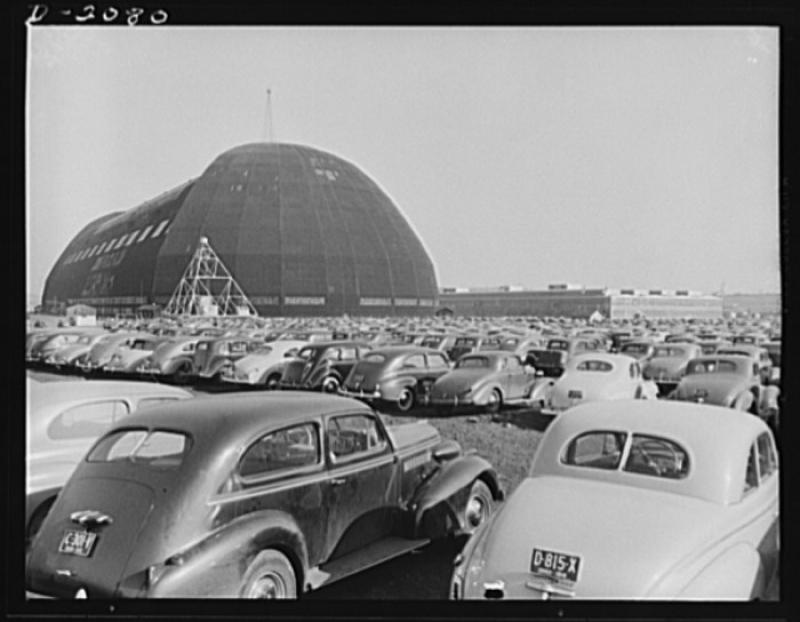 Temporary location in Ohio for making aircraft sub-assembly parts during wwii