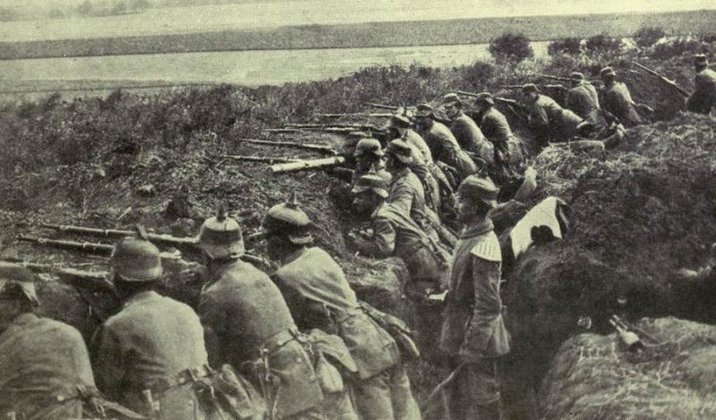 German Troops Firing from a Trench, 1915