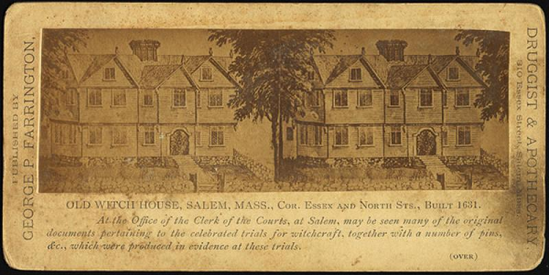 Old Witch House, Salem, Mass. - Stereographic Print