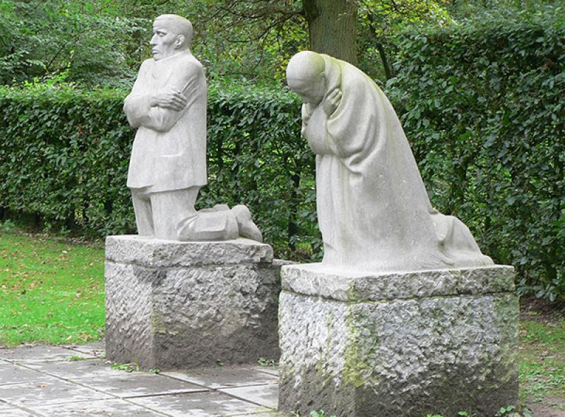 The Grieving Parents Memorial by Kathe Kolwitz