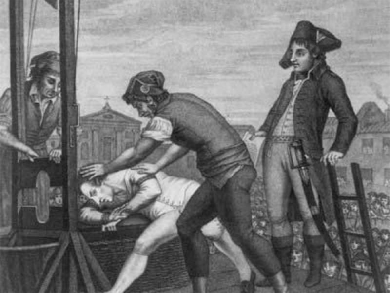 Robespierre Being led to the Guillotine