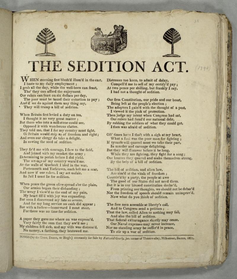 The Sedition Act