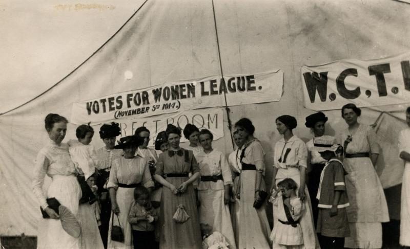 The Votes for Women League organized in 1912 in Grand Forks and Fargo.