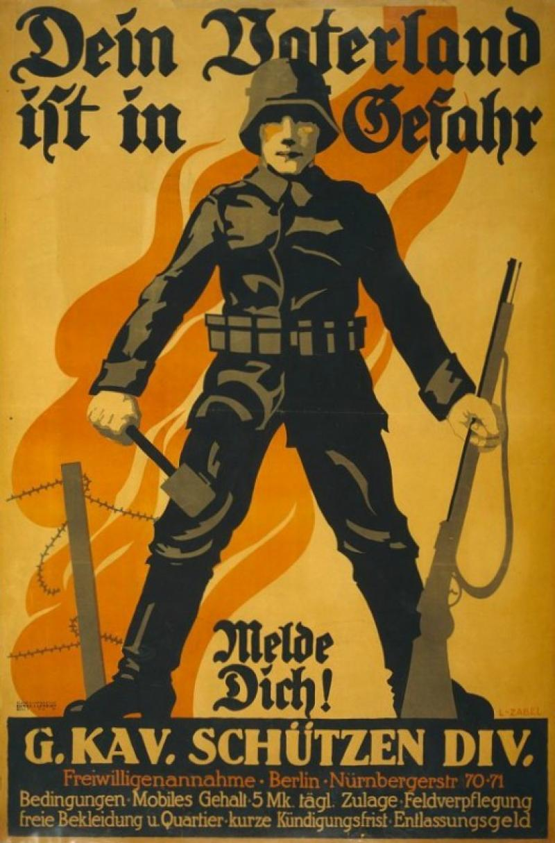 German World War I Recruitment Poster