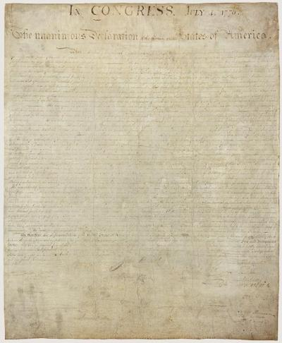 Declaration of Independence - front