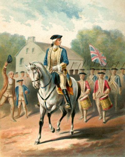 PRESIDENT GEORGE WASHINGTON: OFF TO THE FRONT, APRIL 2, 1754