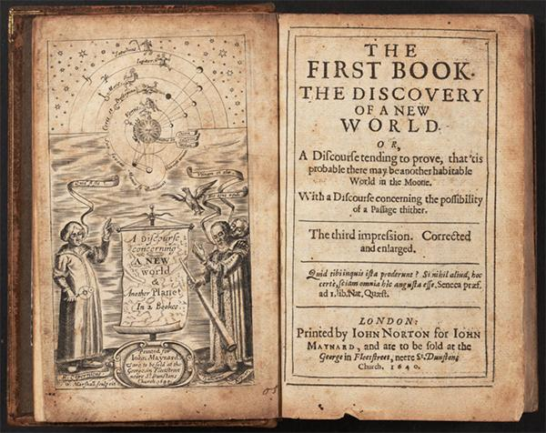 Wilkins, John. 1640. A discourse concerning a new world & another planet. Frontispiece.