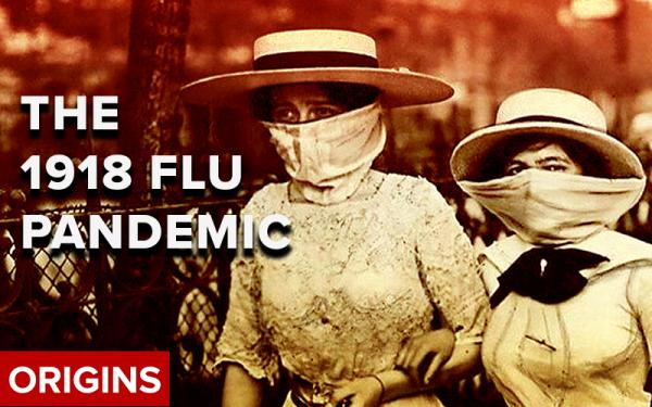The 1918 Flu Pandemic Video - Two Victorian Ladies with Masks On